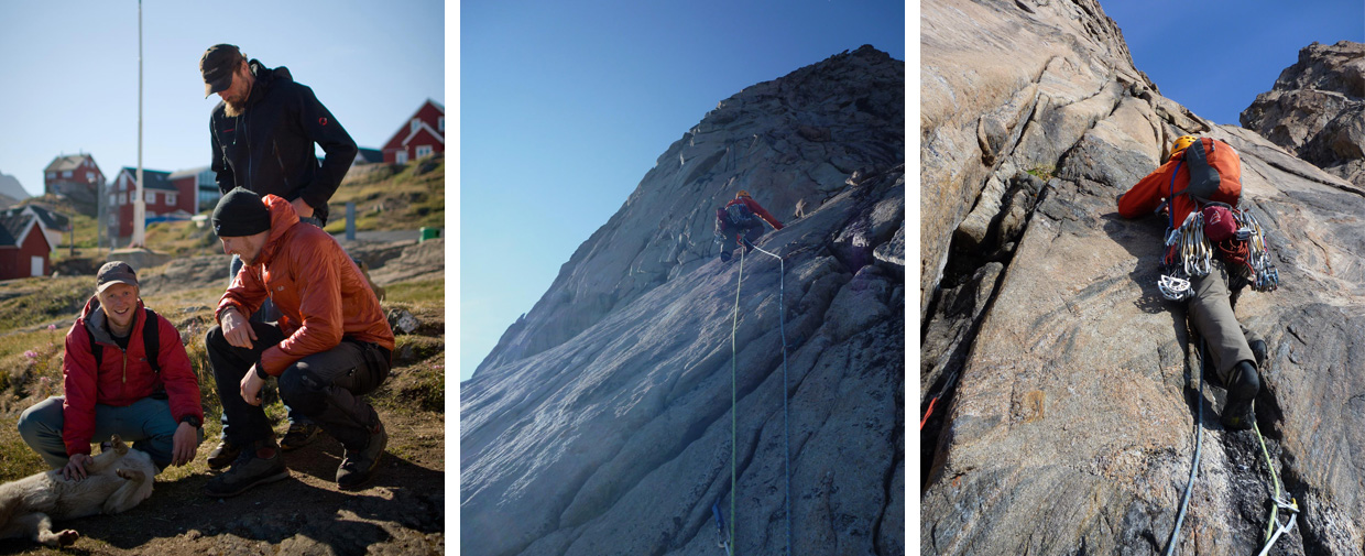 Climbing in East Greenland