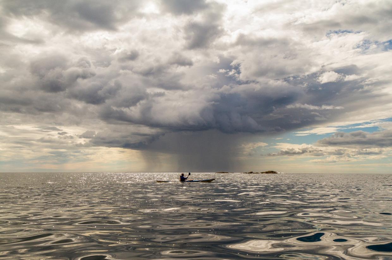 paddling along the southeast coast of Alaska