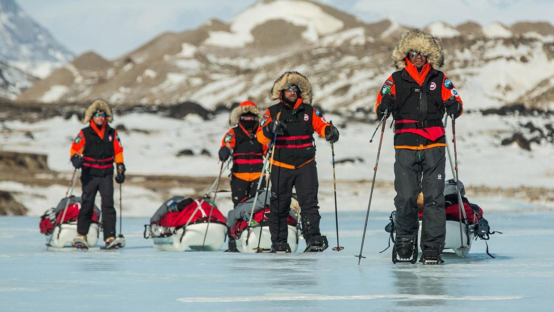 Pulk Pulling on Baffin Island