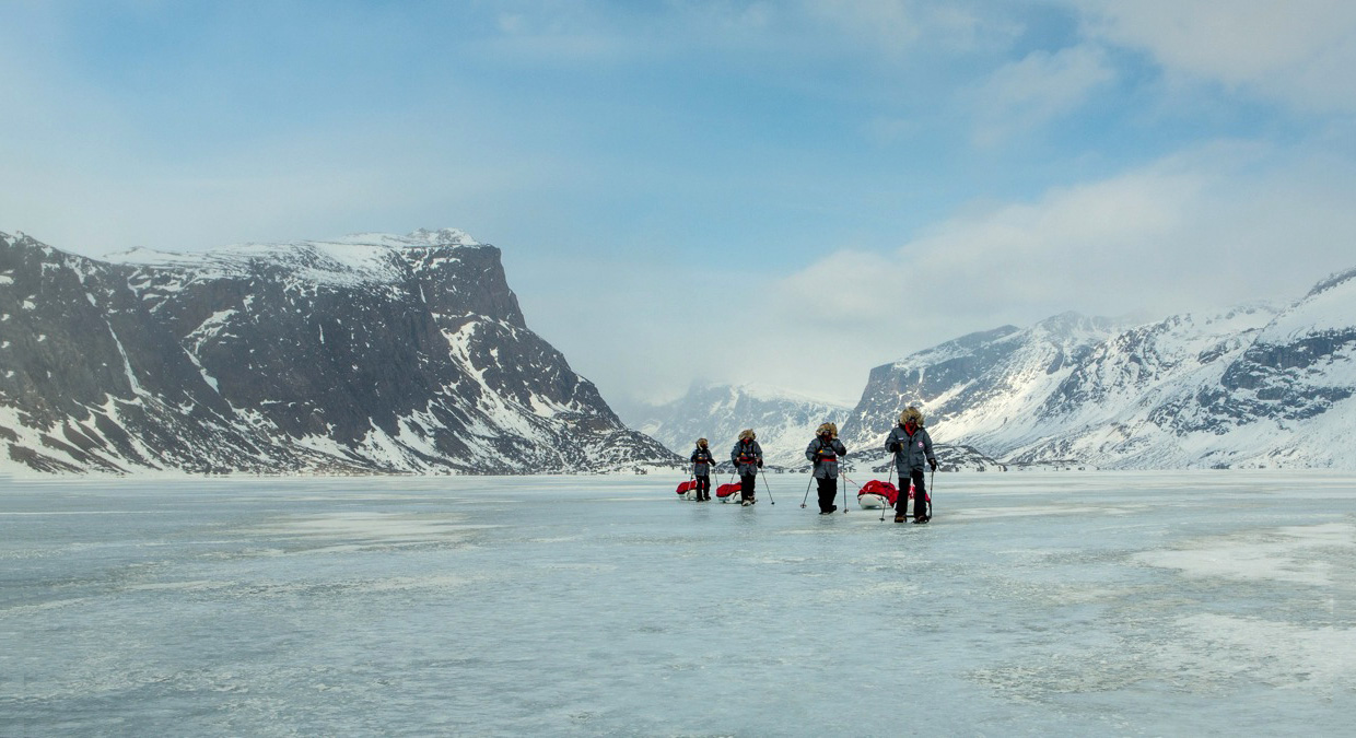 Pulking on Baffin Island