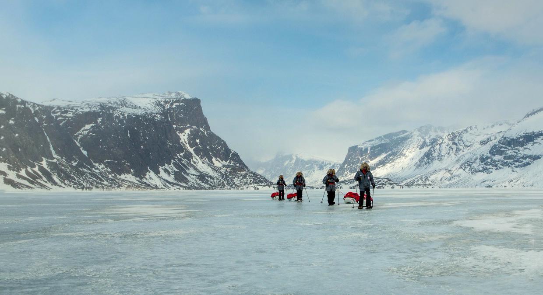 Pulking on Baffin Island