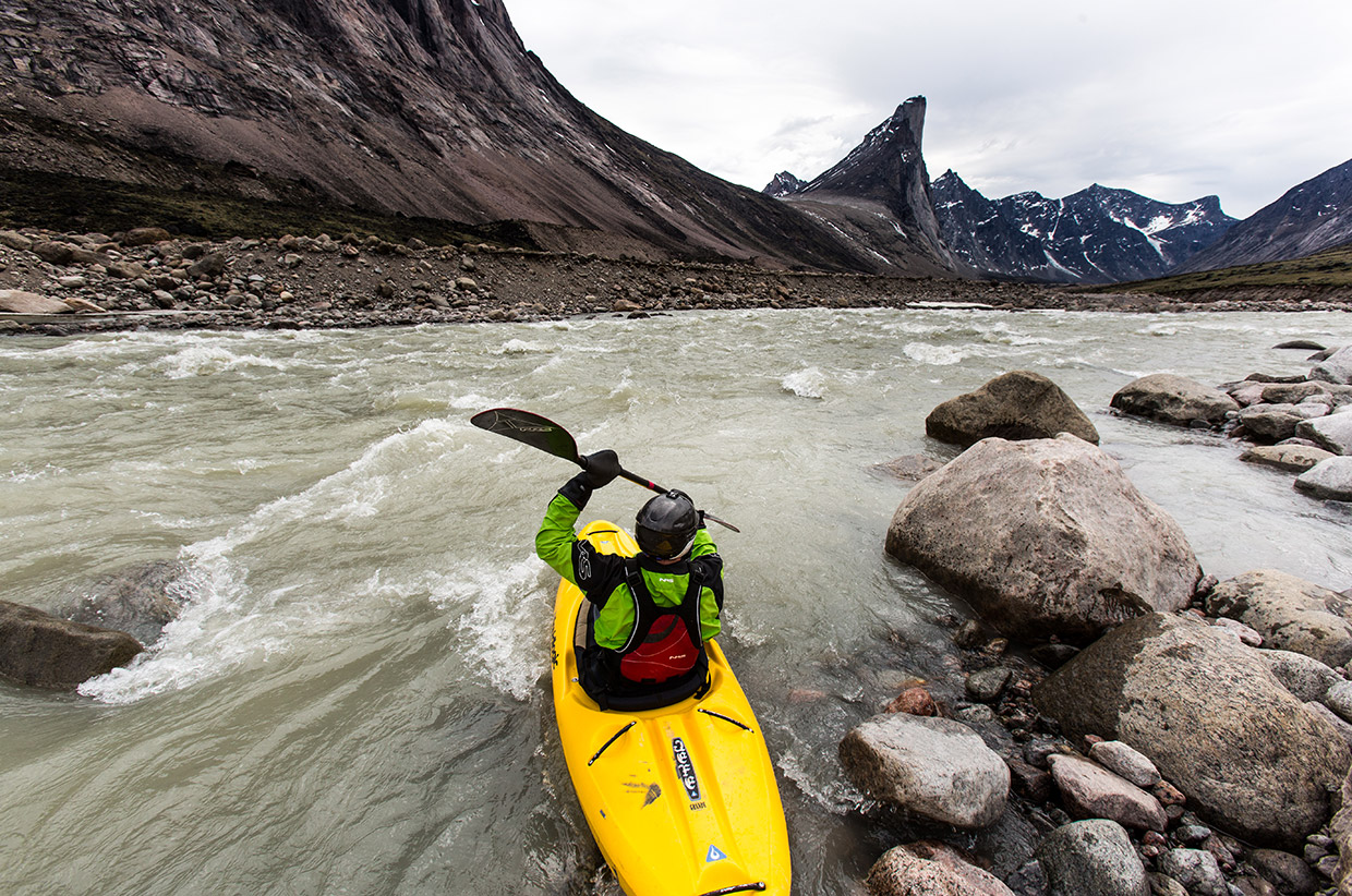 Testing the rapids on Baffin Island
