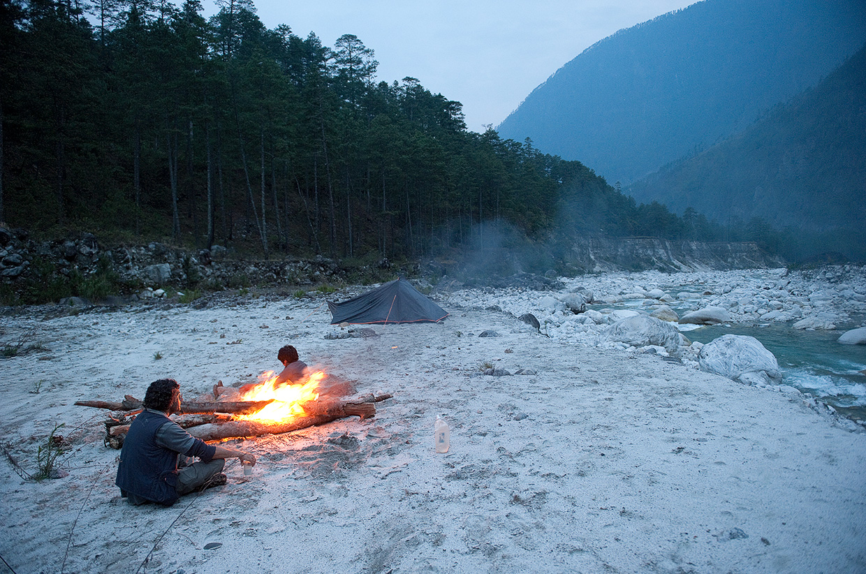 Camping by the river - Eastern Himalayas - Photo © Amar Dev Singh
