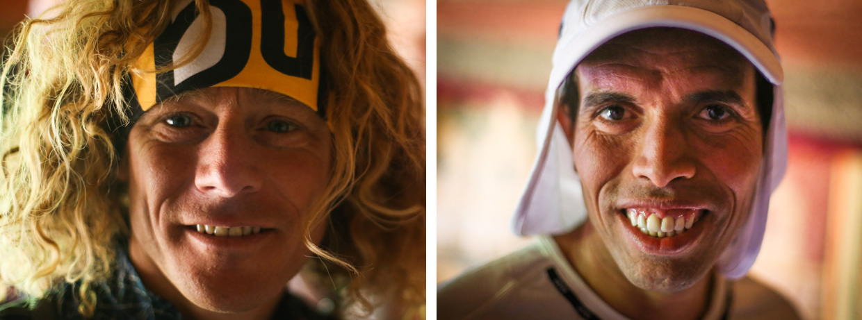 MDS - Mohamad Ahansal, 5 times winner and Christophe Le Saux, Professional endurance athlete at registration