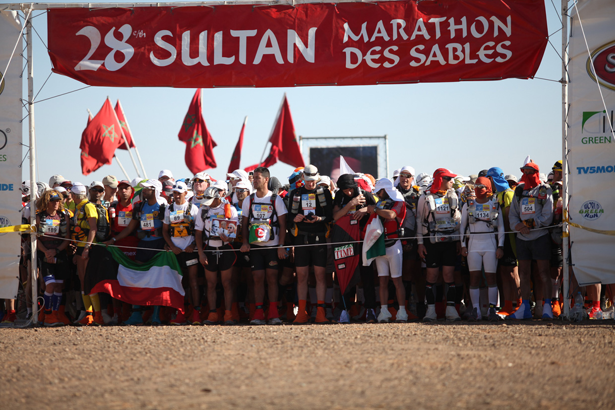 The Marathon Des Sables start line