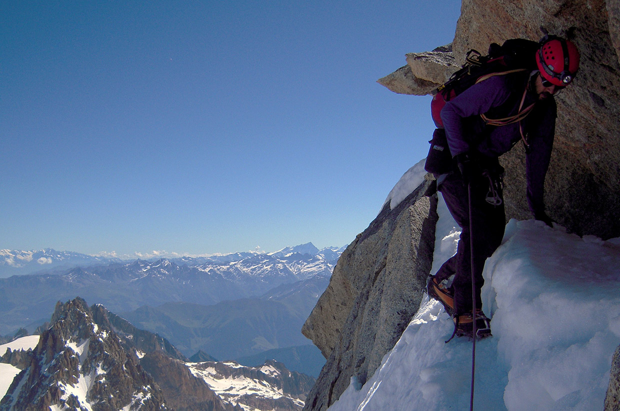 forbes arete, Mont Blanc Massif