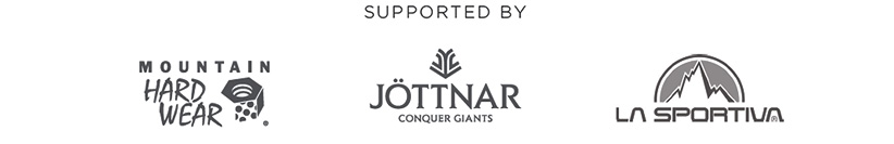 supported by Mountain Hardwear, Jöttnar, La Sportiva