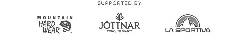 supported by Mountain Hardwear, Jöttnar, La Sportiva