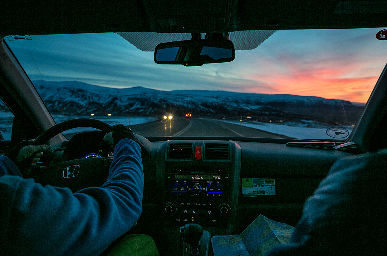 Driving in Iceland - Photo © Nadir Khan