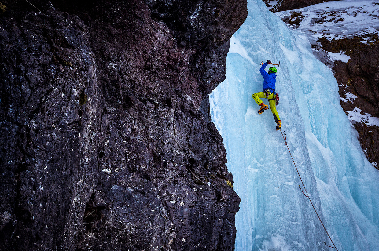 Ice Climbing - Iceland - Photo © Nadir Khan