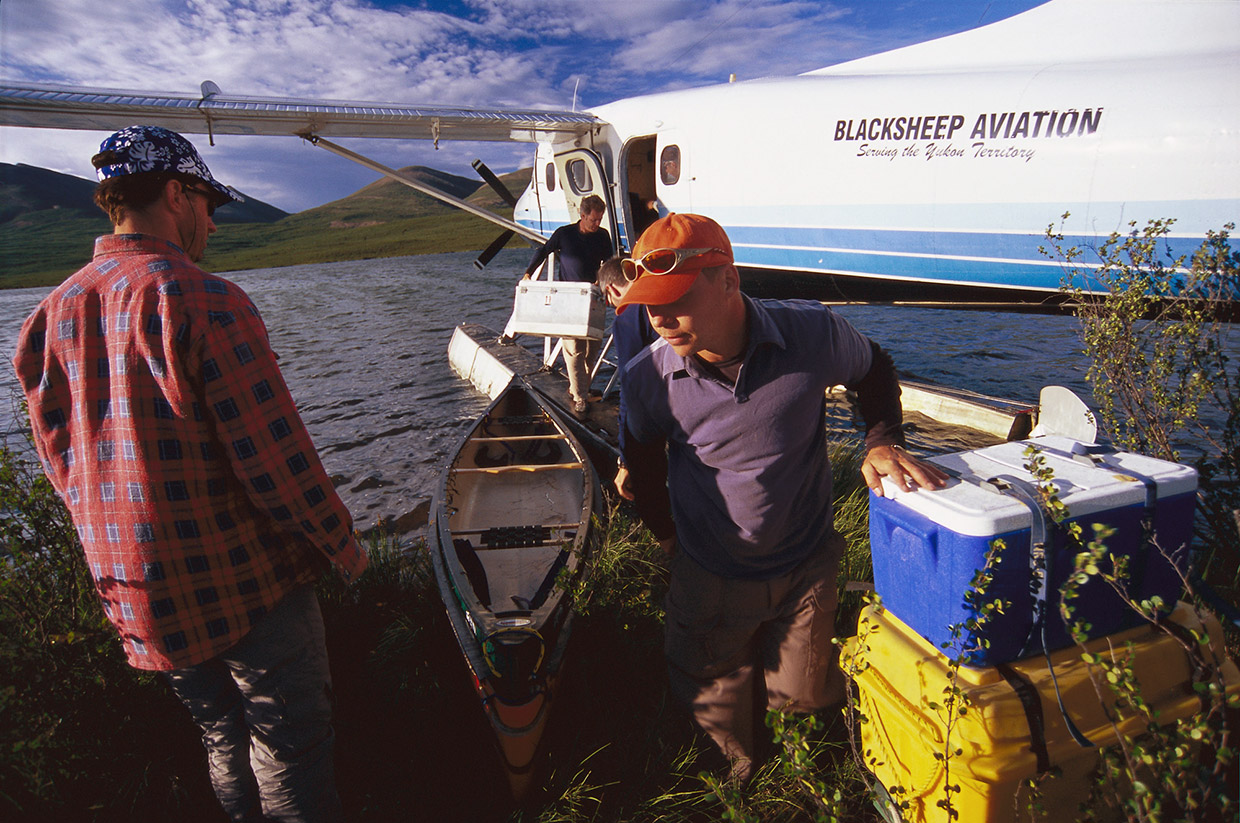 Arriving by float plane - The Yukon. Photo by Bruce Kirkby
