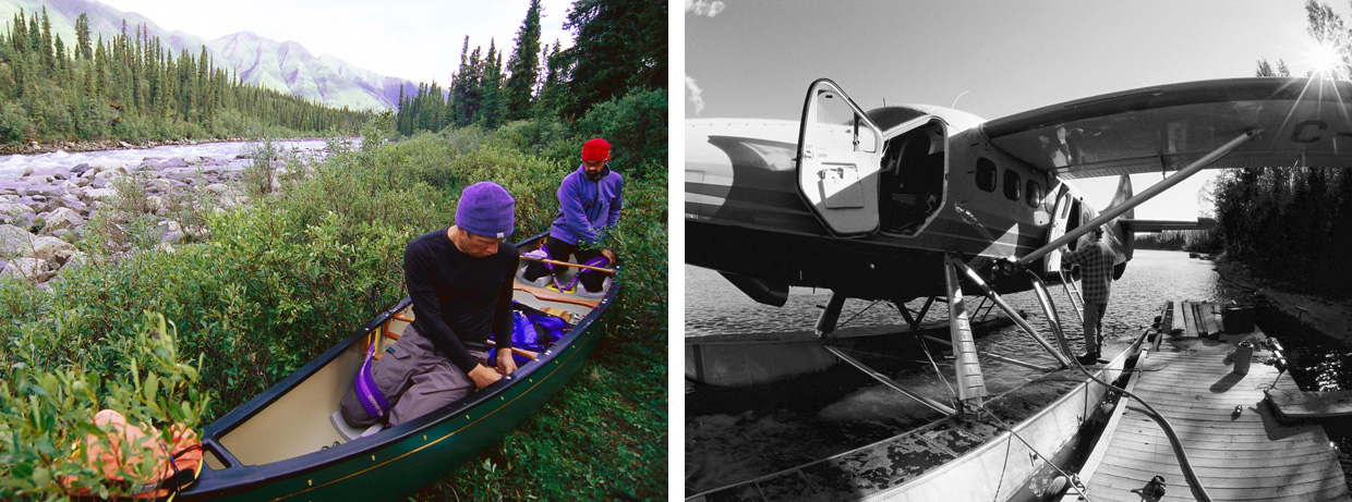 Camping by the River Hess, Yukon. Photo by Bruce Kirkby
