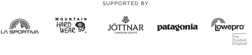 Supported by La Sportiva, Mountain Hardwear, Jöttnar, Patagonia & Lowepro