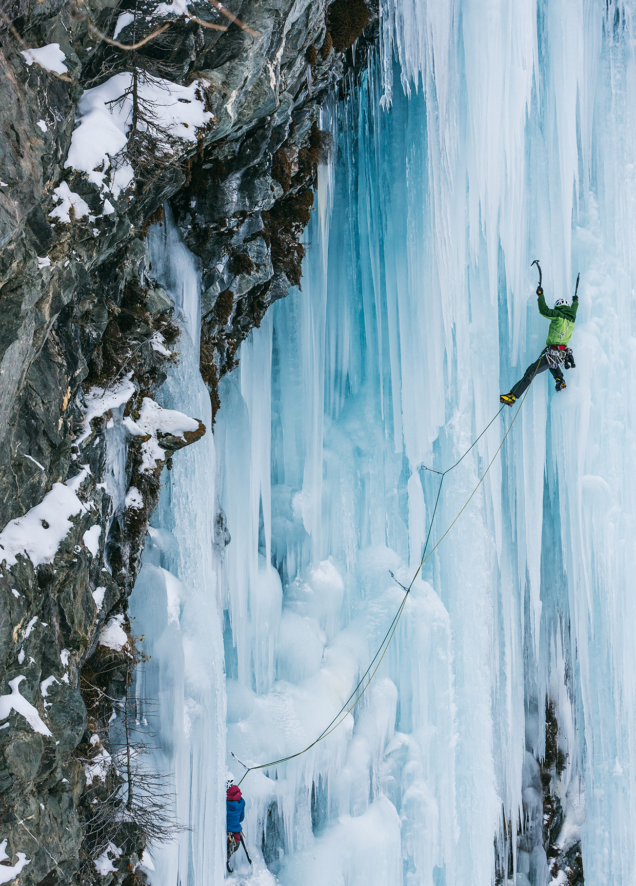 Ice Climbing in Cogne, Italy
