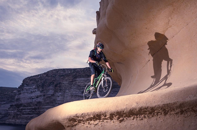 Manu Bustello Mountainbiking. Photo by Chris Davies