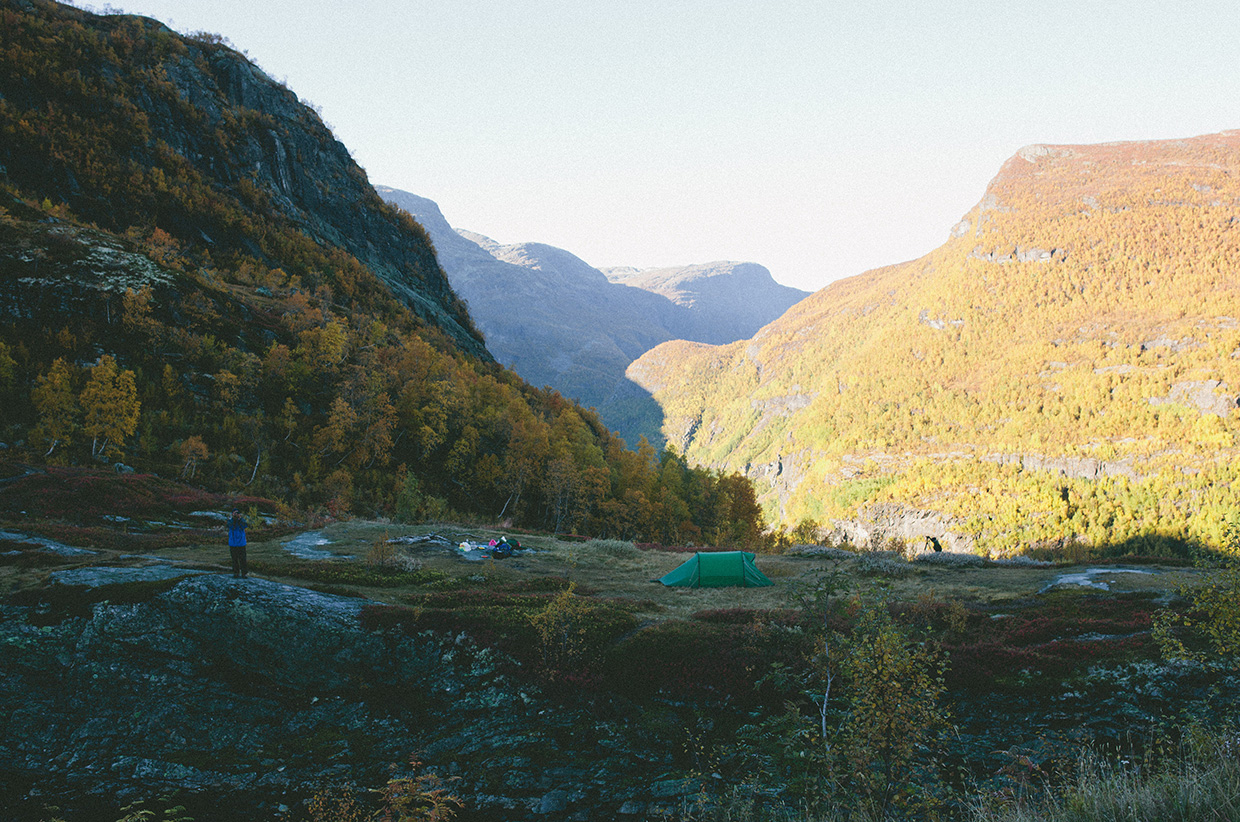 Camping in the Scandinavia wilderness