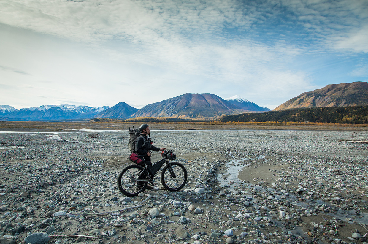 Fatbiking and Packrafting in the Wrangells, Alaska. Photo © Bjørn Olson