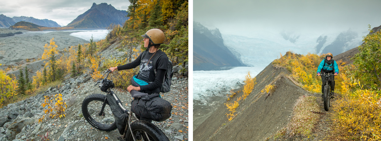 Fatbiking overlooking the Glacier Photo © Bjørn Olson