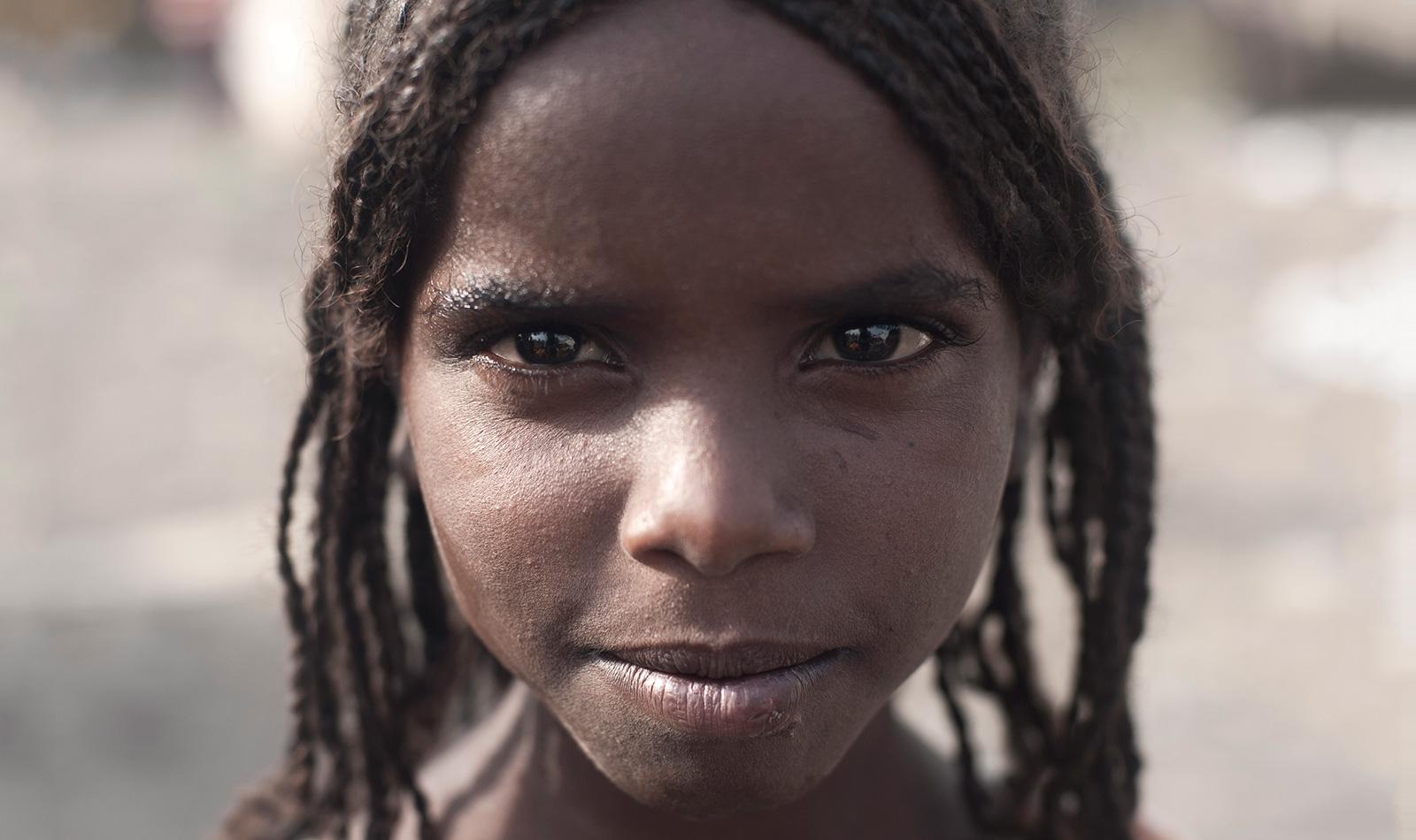Afar girl in Asaita, Ethiopia