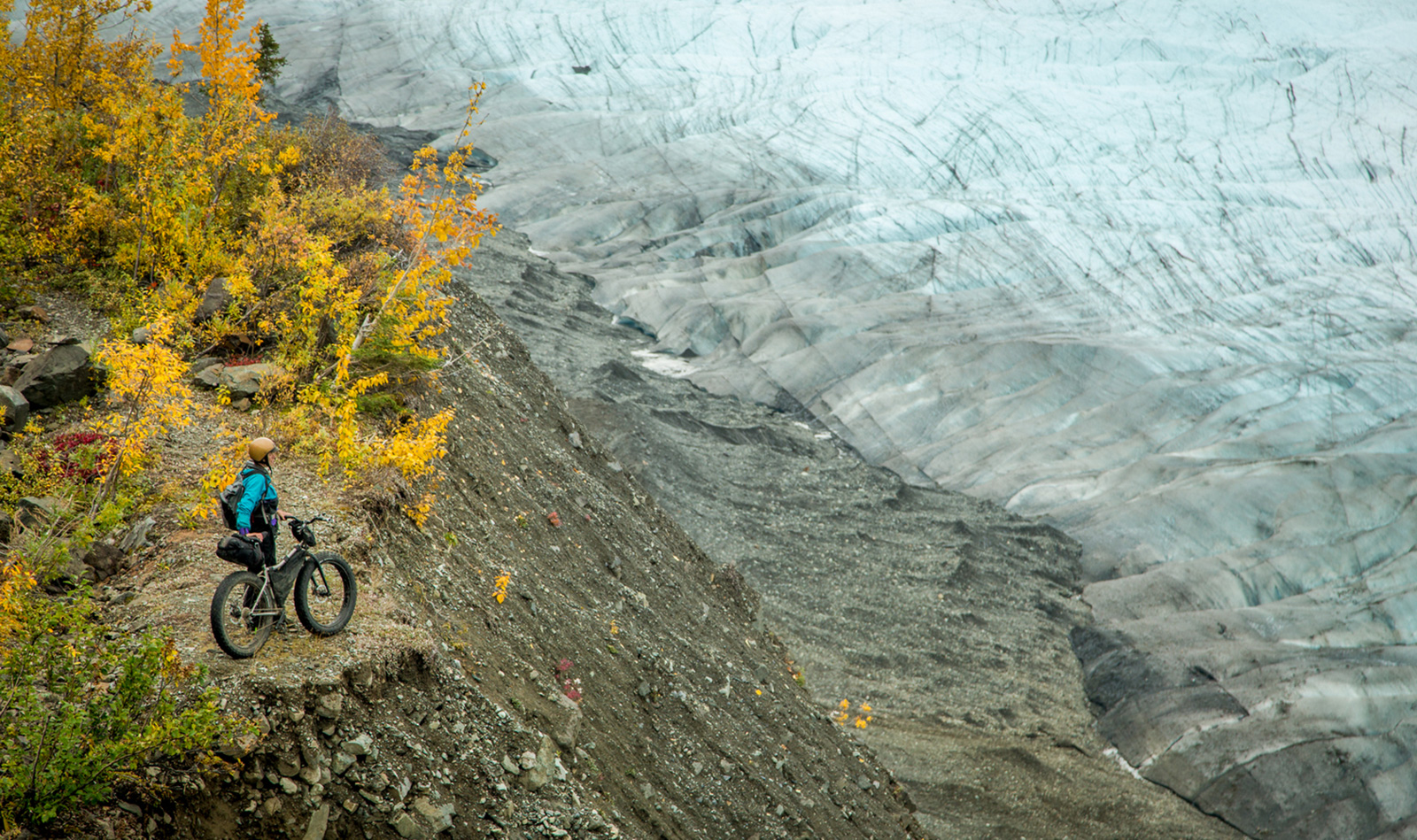 Fatbiking the Wrangells, Alaska. Photo © Bjørn Olson