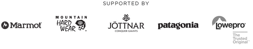 Supported by Marmot, Mountain Hardwear, Jöttnar, Patagonia & Lowepro
