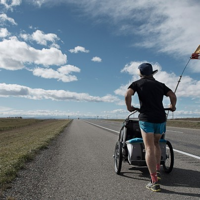 West To The Sea – Dave Chamberlain runs Across Canada. Photo by Morgan Cardiff