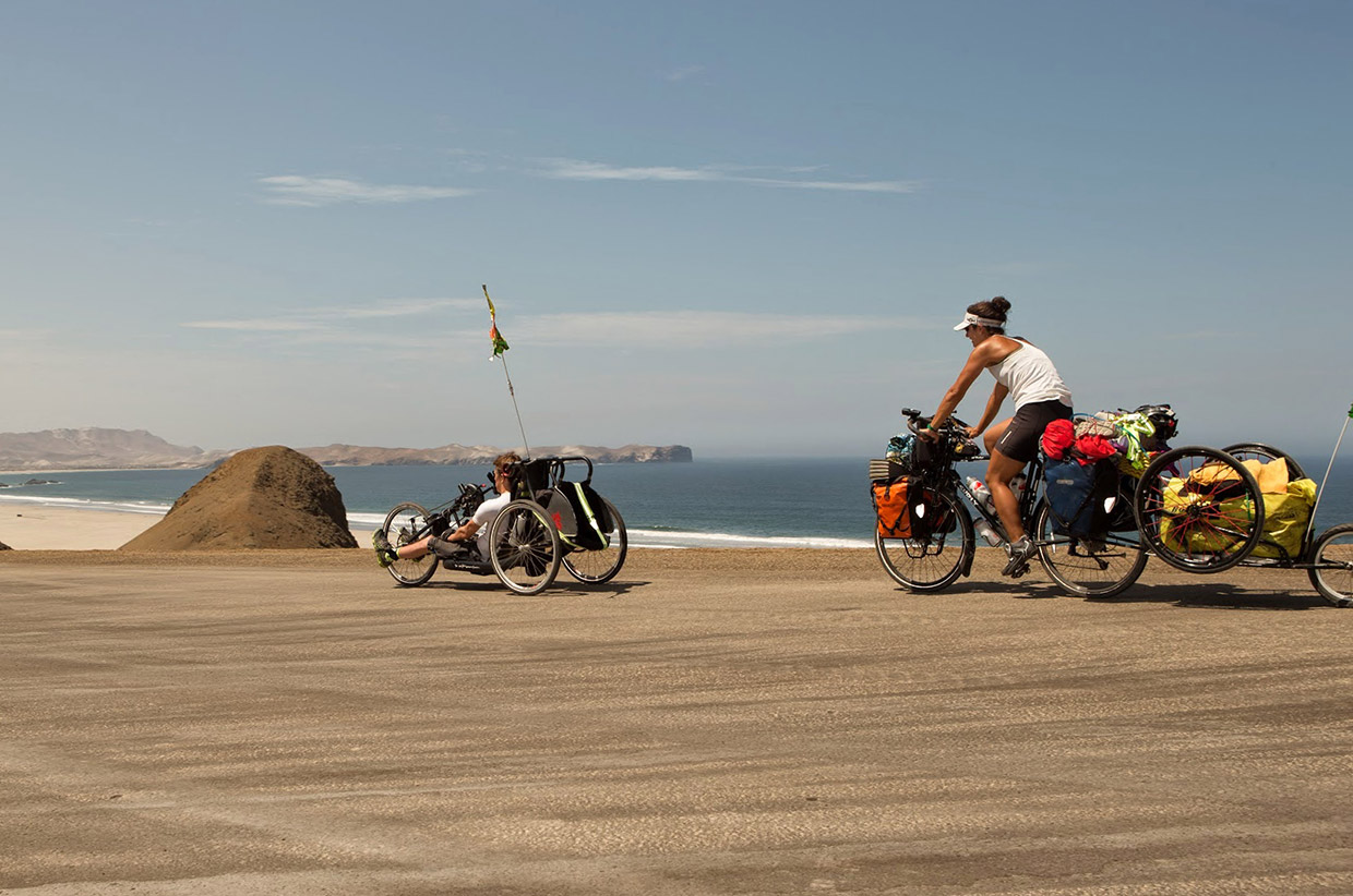 Handcycling through Peru