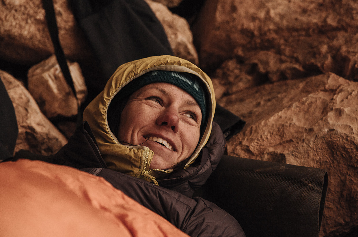 Ines Papert in the High Atlas Mountains - Photo by Franz Walter