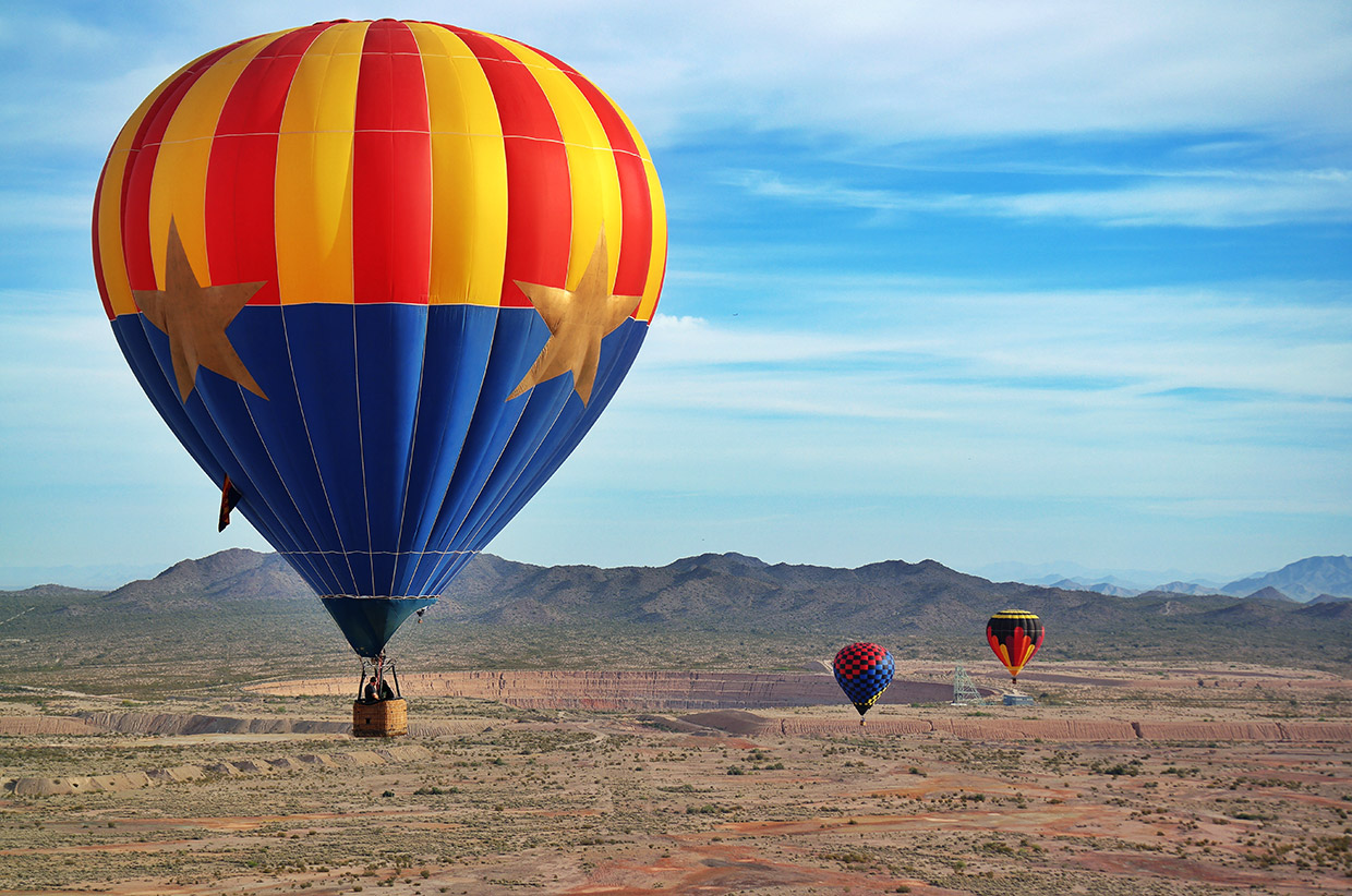 Approaching the Copper Mine in a Hot Air Balloon