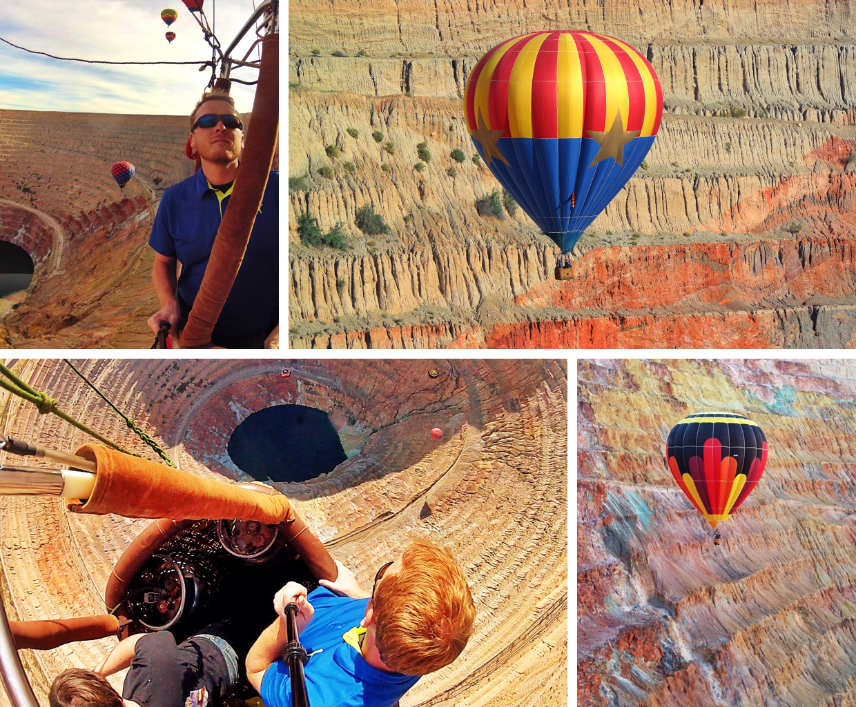 Hot Air Ballooning into a copper mine