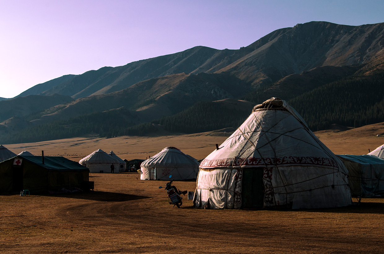 Yurt city – Photo by Will Julian