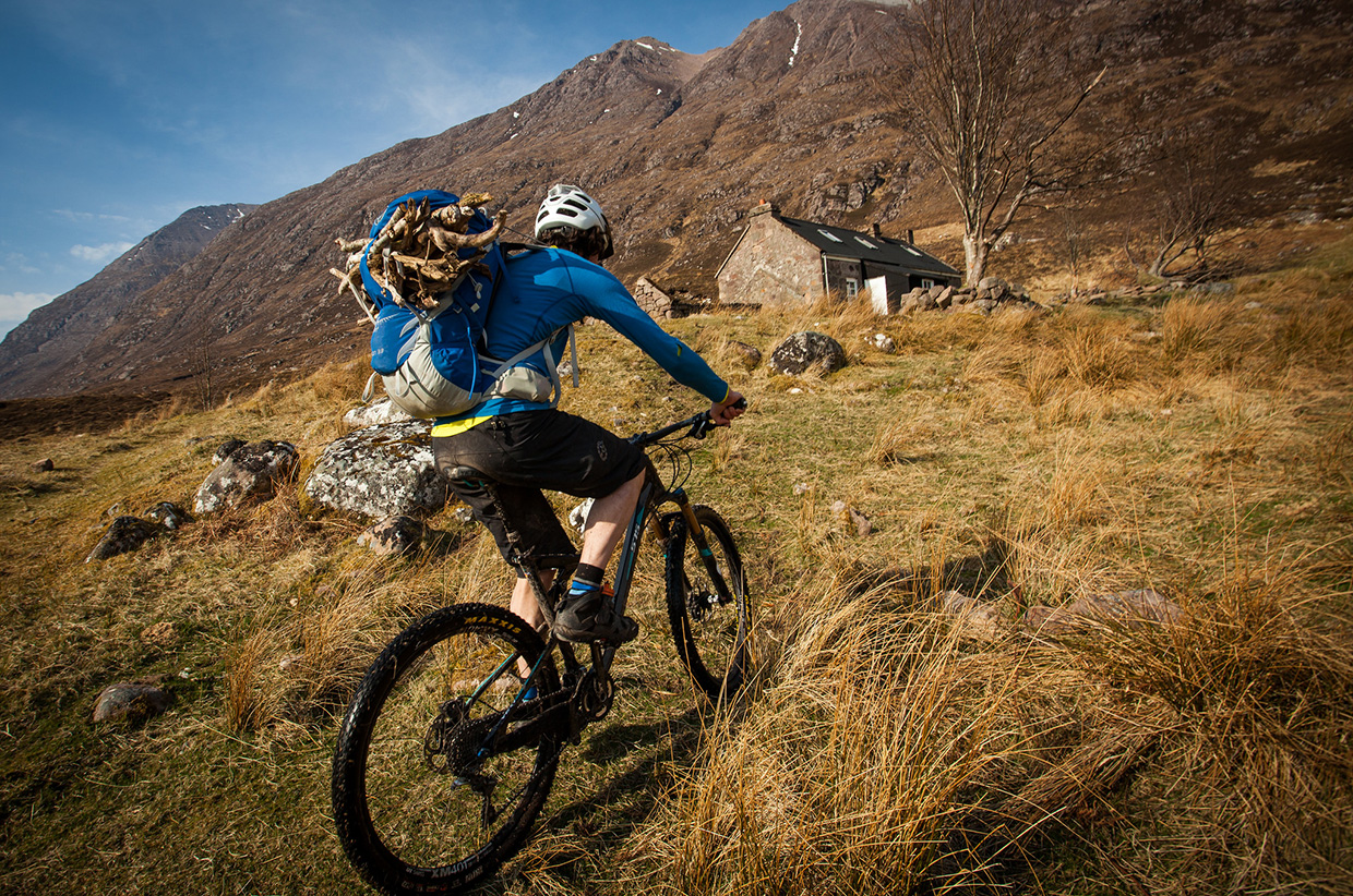 Mountain Bikes And Bothy Nights - Photo by Al Humphreys