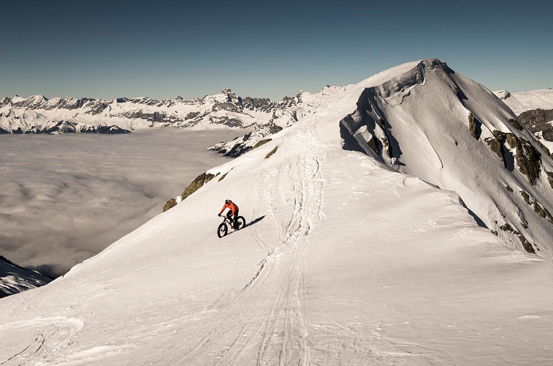 Geoff Harper fatbikes the Tour Du Mont Blanc – Photo by Daniel Wildey
