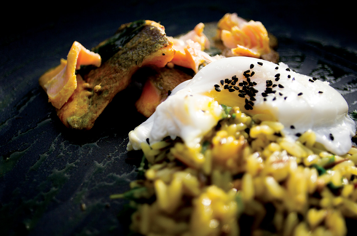 Wild Trout & Duck Egg Kedgeree