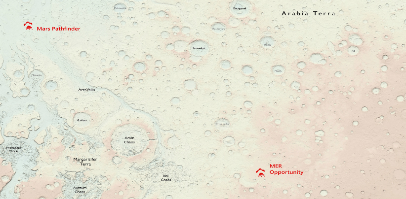 Mars Mapped by Ordnance Survey