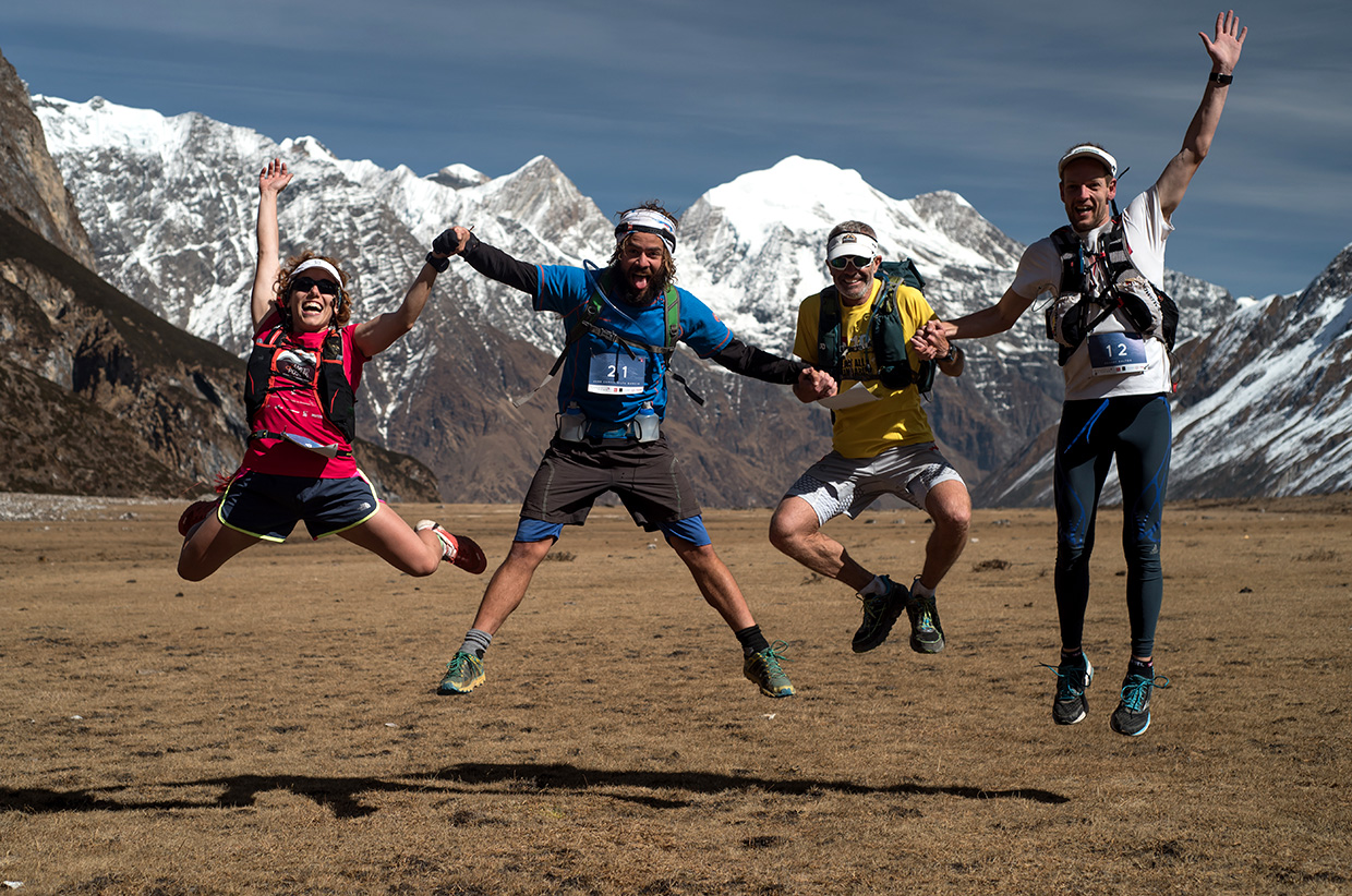 Credit-Mark-Brightwell_Athletes-jump-for-joy-at-Pyen-Gompa