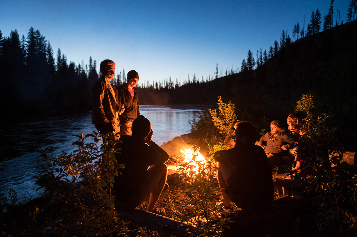 The last night of the trip was spent along the South Fork of the Flathead river.