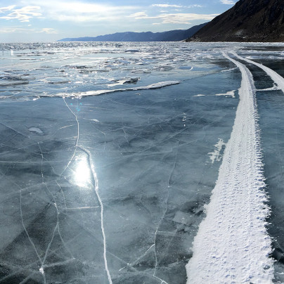 Cycling Frozen Lake Baikal